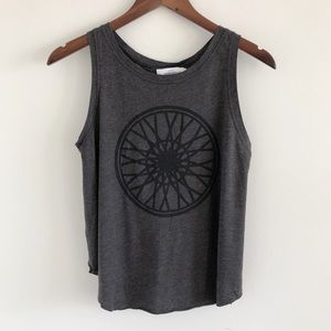 SoulCycle Wheel Gray Open Back Tank Top X-Small